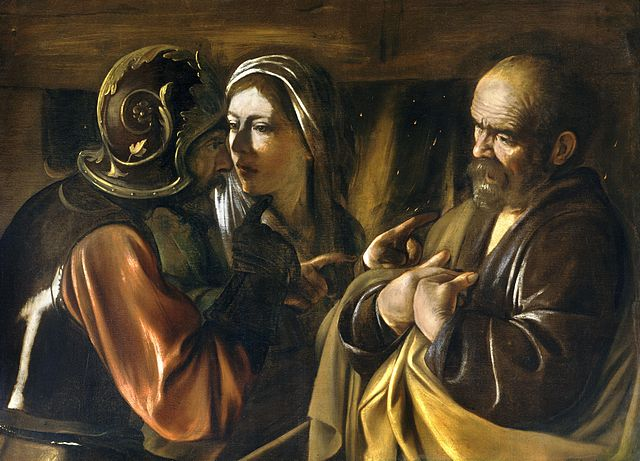 Denial of St Peter Caravaggio