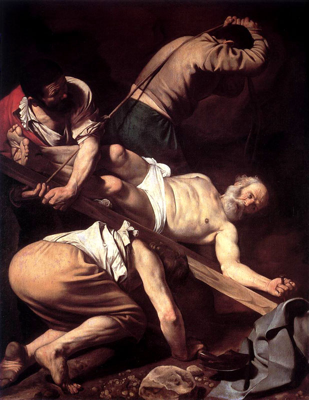 Crucifixion of Peter Caravaggio