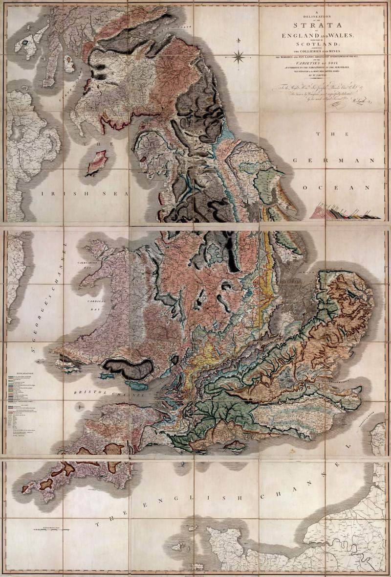 William Smith Geologic Map of Britain 1815