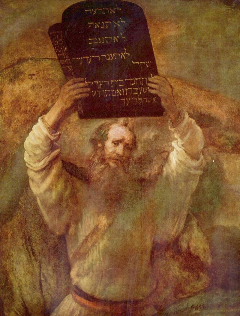 Moses, Ten Commandments, Rembrandt