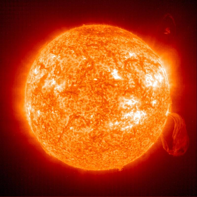 Sun with solar prominance, Biblical Creation Day 4, Genesis 1