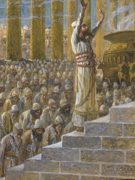 King Solomon Dedicates the Temple of God