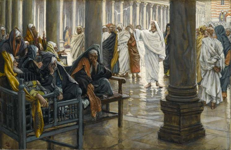 Jesus and the Pharisees, Tissot